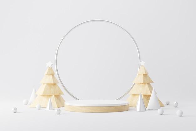 Cilinderpodium voor kerstmis.