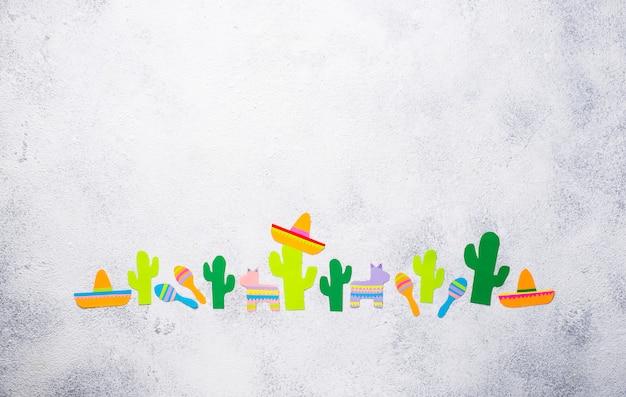 Cinco de mayo, het mexicaanse concept van de fiestadag.
