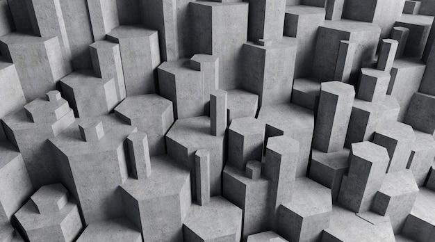 Cinema 4d-weergave van een vijfhoekige stenen achtergrond