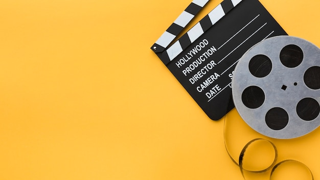 Cinematografie-elementen met kopie ruimte