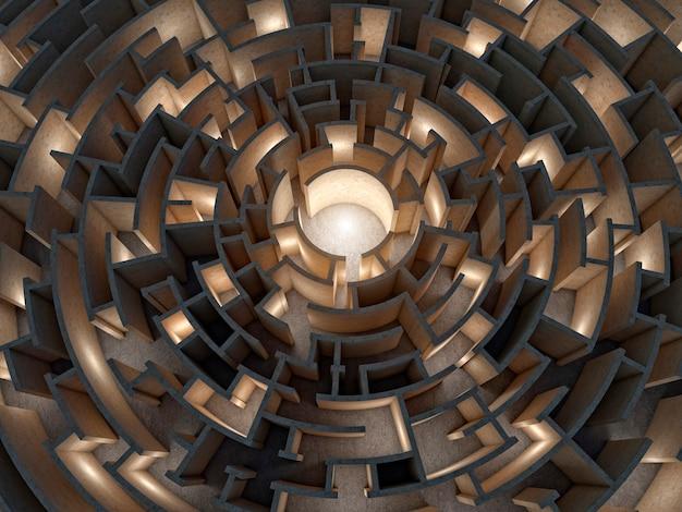 Circulaire doolhof 3d