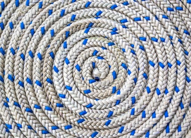 Circulaire spiraalvormig van nautisch touw