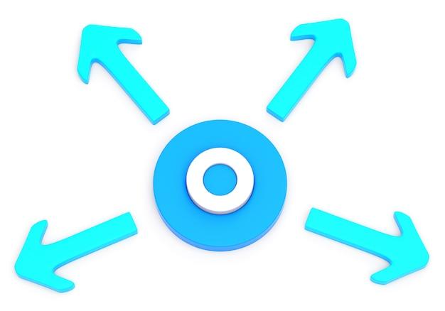 Cirkel met vier pijlen