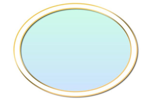 Cirkel pastel kleur logo achtergrond afbeelding met vierkant in goud. schoonheid en mode logo achtergrond