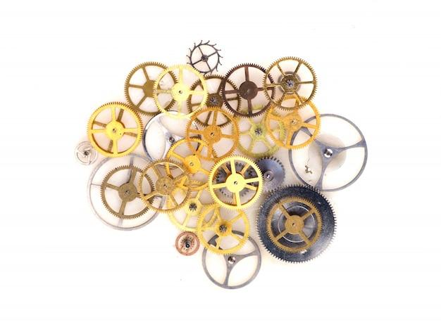 Cirkel textuur sierlijke machine wit
