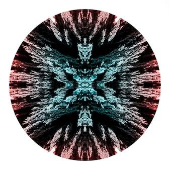 Cirkel van caleidoscoop magnetisch metaal het scheren ontwerp op witte achtergrond