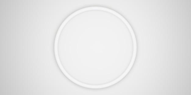 Cirkelframe achtergrond eenvoudige luxe voor het plaatsen van tekst en producten 3d illustratie