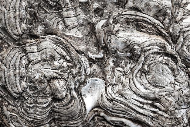 Cirkelvormige en golvende, genezen boomzagen.