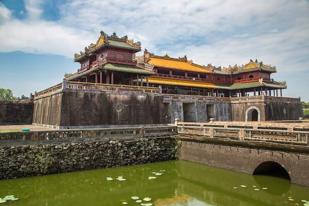Citadel, keizerlijk koninklijk paleis, verboden stad in hue, vietnam