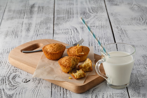 Citroen cupcakes en melk cup