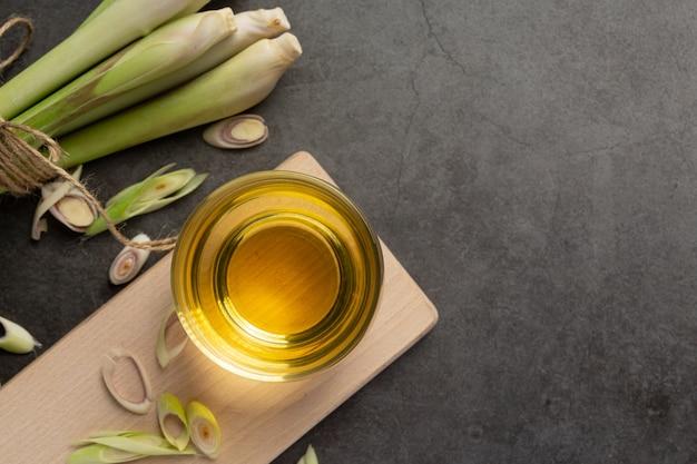 Citroengras honing en citroensap voedsel- en drankproducten van citroengras-extract voedselvoeding concept.