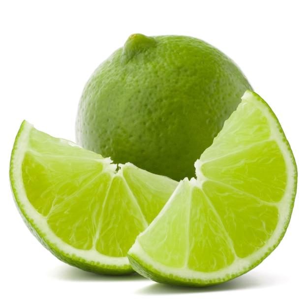Citrus limoen fruit geïsoleerd op een witte achtergrond knipsel