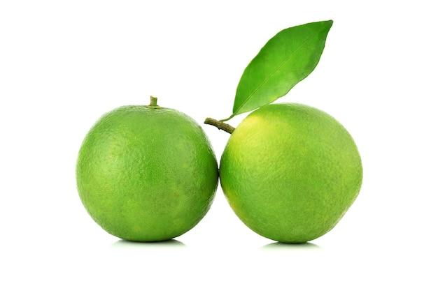 Citrus sinensis geïsoleerd op de witte achtergrond