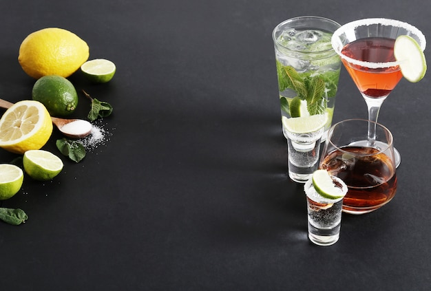 Citrusvruchten en cocktails