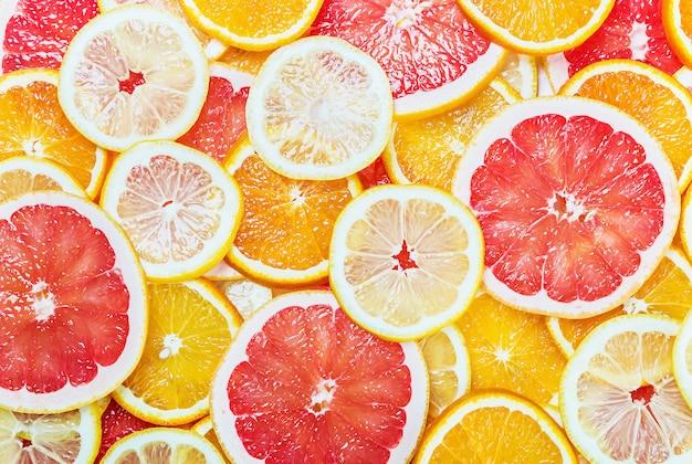 Citrusvruchten van plakjes vers fruit