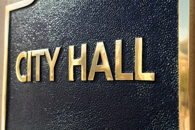 City hall teken close-up