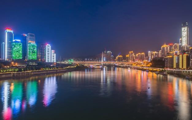 City nacht uitzicht