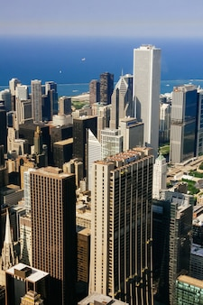 City of chicago. luchtfoto van chicago e.