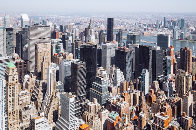 Cityscape ontleend aan empire state building