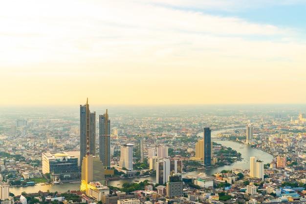 Cityscape van bangkok met mooie buitenkant van de bouw en architecturein in thailand