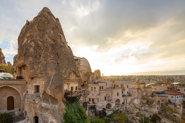 Cityscape van cappadocia horizon in goreme, turkije