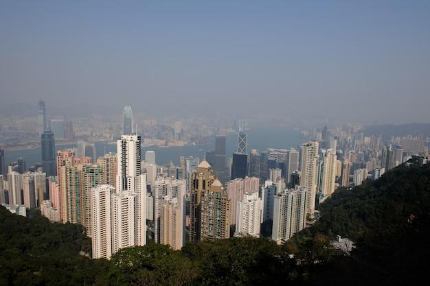 Cityscape van hong kong van victoria's peak.