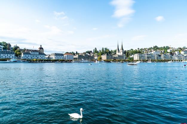 Cityscape van luzern in zwitserland
