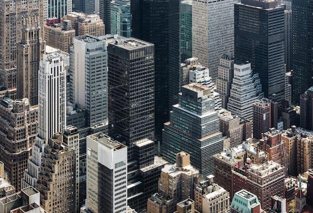 Cityscape van new york de mening van het vogelsoog