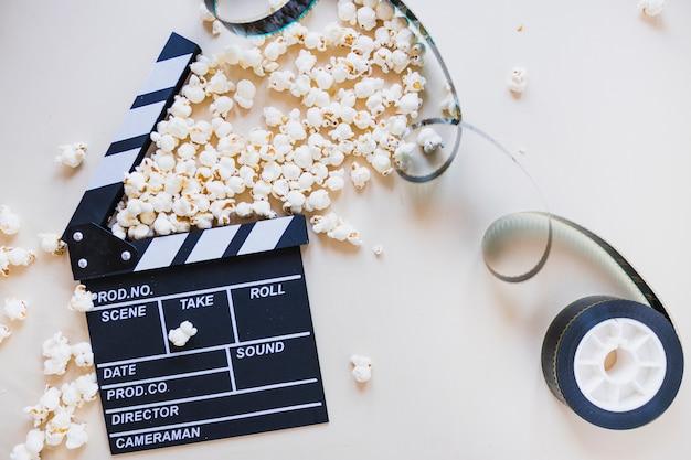 Clapperboard met filmvoorraad