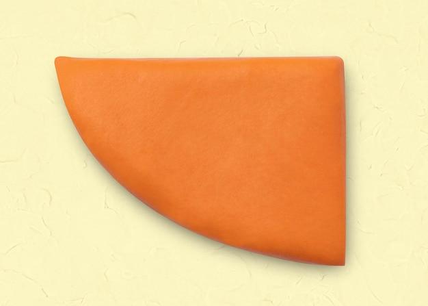 Clay pic geometrische vorm oranje schattige afbeelding voor kinderen