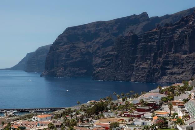 Cliff of the giants in santiago del teide.