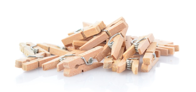Clip hout geïsoleerd op wit