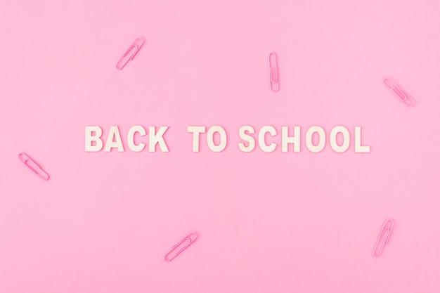 Clips rond terug naar school schrijven