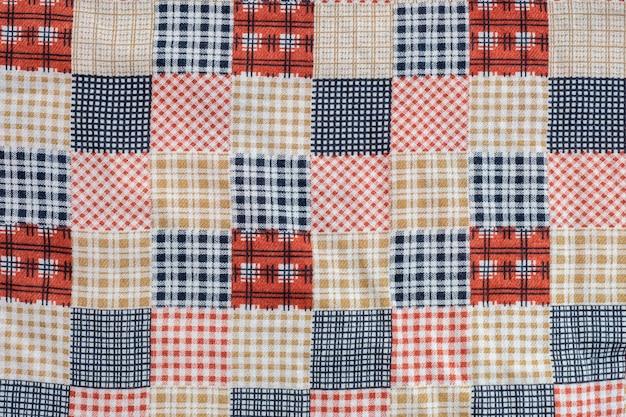 Close-up abstract patroon bij de kleding geweven achtergrond van vrouwen