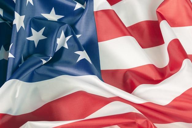 Close-up amerikaanse vlag achtergrond