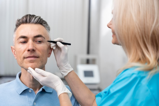 Close-up arts met behulp van marker
