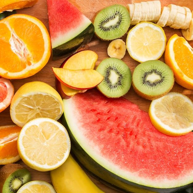 Close-up assortiment van exotisch fruit