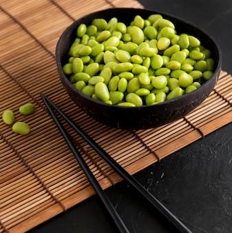 Close-up beeld van aziatische bonen concept