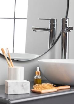 Close-up beeld van eco cosmetica concept