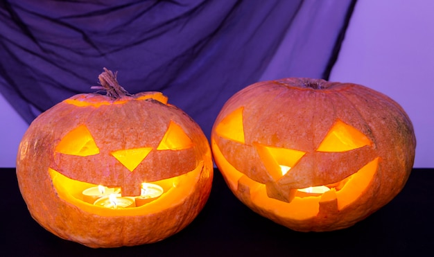 Close-up beeld van halloween pompoen concept