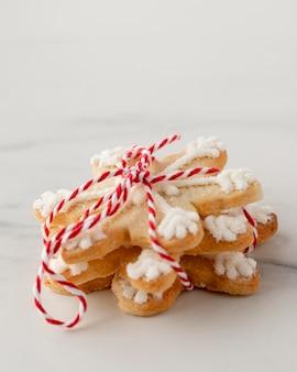 Close-up beeld van heerlijke koekjes