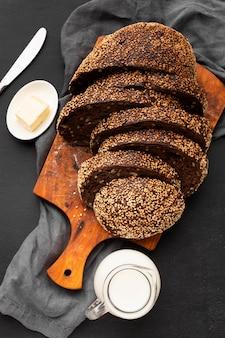 Close-up beeld van het concept van het zaadbrood