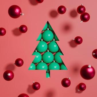 Close-up beeld van kerstballen concept