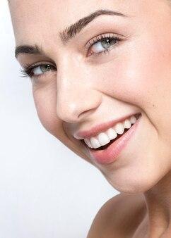 Close-up beeld van mooie vrouw concept