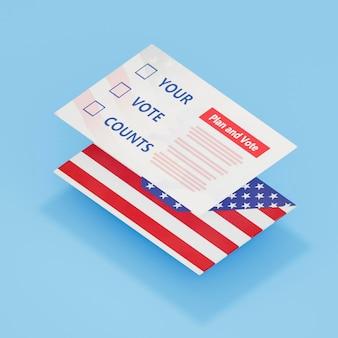 Close-up beeld van ons verkiezingen concept