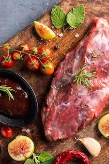 Close-up beeld van rauw vlees concept
