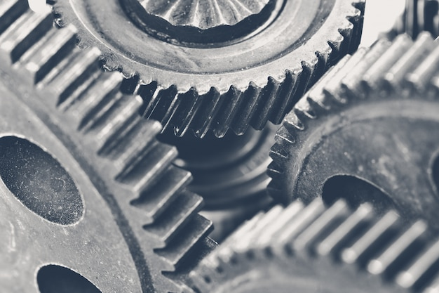 Close-up beeld van stapel versnellingen