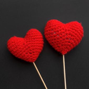 Close-up beeld van valentijnsdag met hart concept