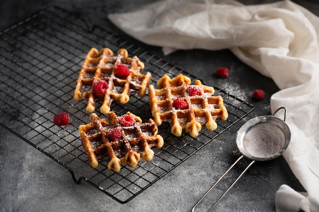 Close-up belgische wafels