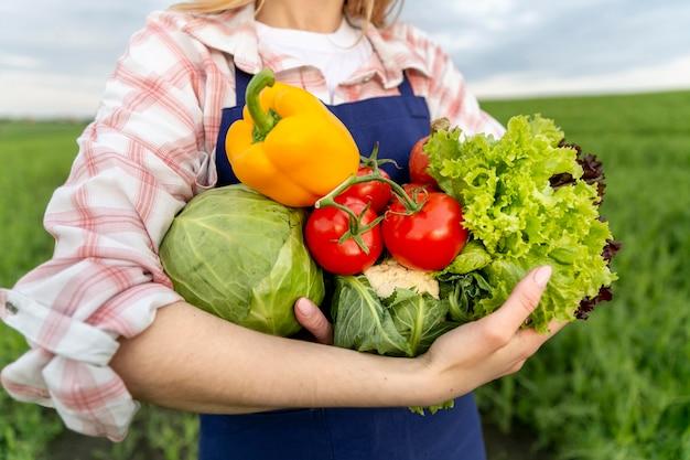 Close-up boerderij groenten